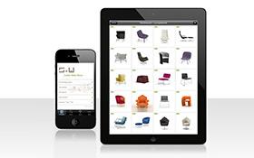 Mobil über Produkte fürs Büro informieren